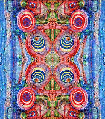 Digital Art - Deep Dream Tweedledee by Otto Rapp