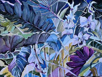 Art Print featuring the painting Deep Dreams by Mindy Newman