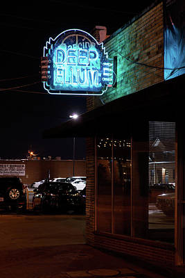 Photograph - Deep Ellum Dallas Blue by Rospotte Photography