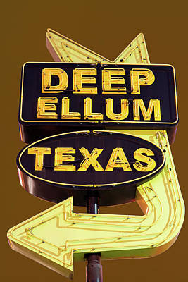 Photograph - Deep Ellum Gold Sign by Rospotte Photography