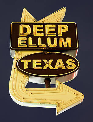 Photograph - Deep Ellum Poster Blue 050318 by Rospotte Photography