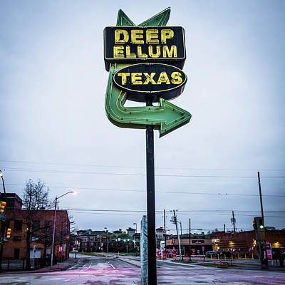 Photograph - Deep Ellum Texas Neon Sign - Dallas Texas by Gregory Ballos