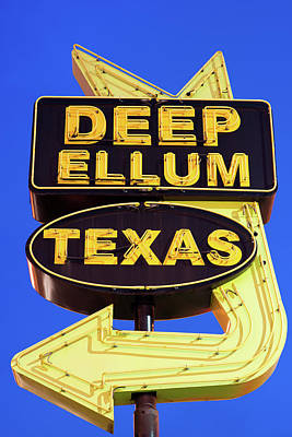 Photograph - Deep Ellum Texas Sign V1 by Rospotte Photography