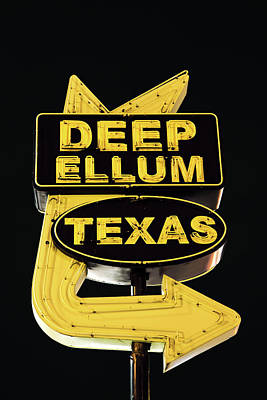 Photograph - Deep Ellum Texas Yellow Black by Rospotte Photography