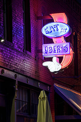 Photograph - Deep Ellum's Neon Uber's by Rospotte Photography