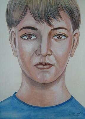 Etc. Painting - Deep Eyes by Dharminder Pabma