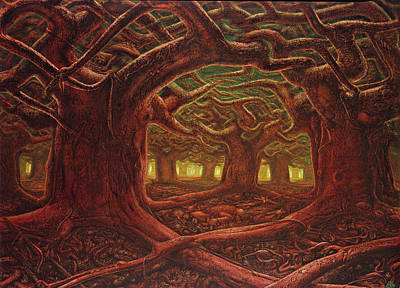 Painting - Deep Forest by De Es Schwertberger
