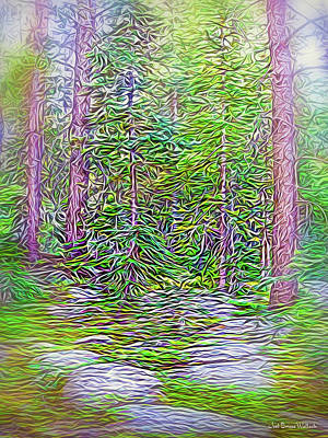 Digital Art - Deep Forest Discoveries by Joel Bruce Wallach