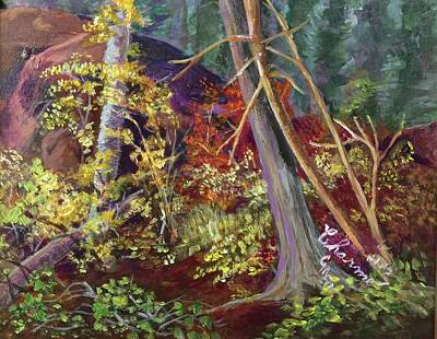 Painting - Deep Forest Flora by Charme Curtin