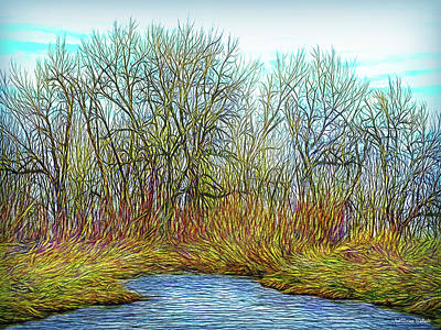 Digital Art - Deep Forest River by Joel Bruce Wallach