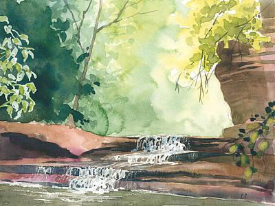 Deep Forest Waterfall Art Print