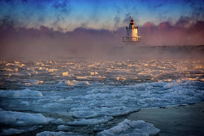Photograph - Deep Freeze At Spring Point Ledge Lighthouse by Rick Berk