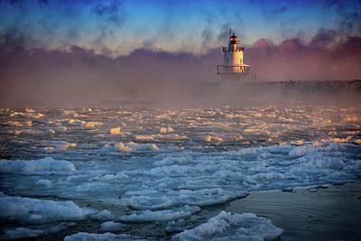 Photograph - Deep Freeze At Spring Point Ledge Lighthouse by Rick Berk