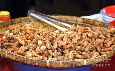 Photograph - Deep Fried Shrimps by Yali Shi