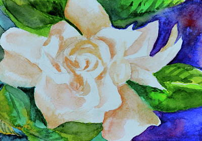 Art Print featuring the painting Deep Gardenia by Beverley Harper Tinsley