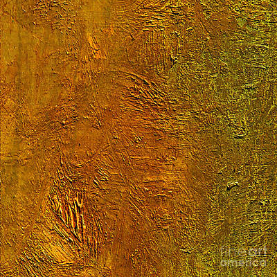Mixed Media - Deep Gold by Michael Rock