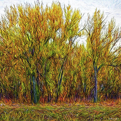Digital Art - Deep Golden Forest by Joel Bruce Wallach