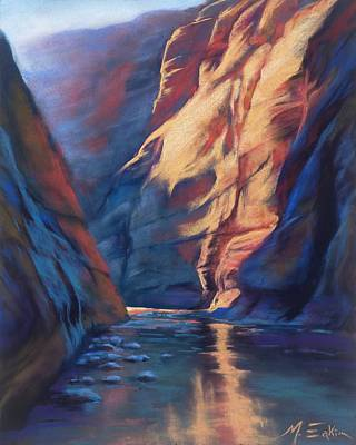 Painting - Deep In The Canyon by Marjie Eakin-Petty