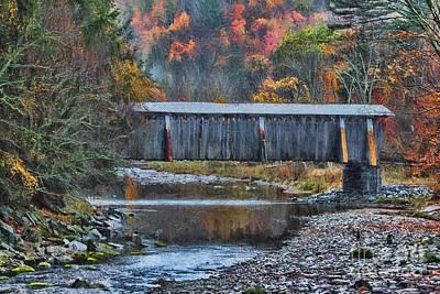 Covered Bridge Painting - Deep In The Catskills by Deborah Benoit