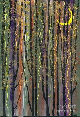 Mixed Media - Deep In The Evening Of The Smiley Moon by Cyndi Lavin