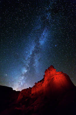 Bison Photograph - Milky Way And Caprock Bison Monument by Stephen Stookey