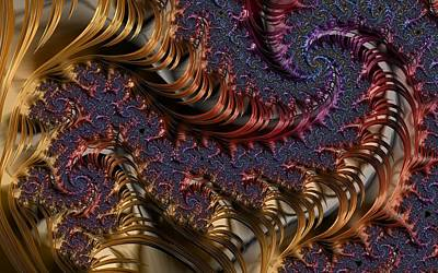 Digital Art - Deep In The Spirals by Paisley O'Farrell