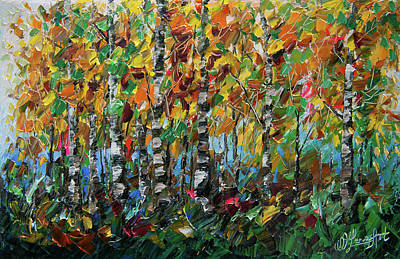 Painting - Deep In The Woods by OLena Art Brand