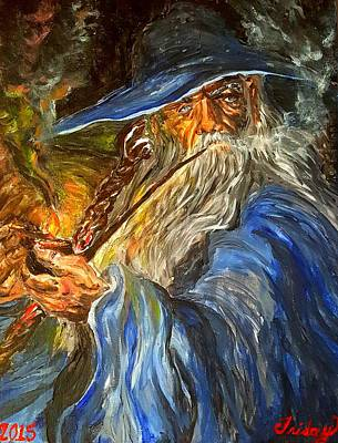 Gandalf Painting - Deep In Thought by Friday Lilly