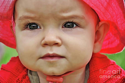 Girls In Pink Photograph - Deep In Thought by Kaye Menner