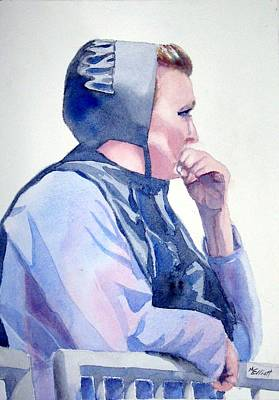 Amish Painting - Deep In Thought by Marsha Elliott