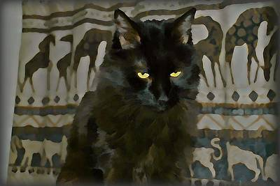 Cats Wall Art - Digital Art - Deep In Thought by Raven Hannah