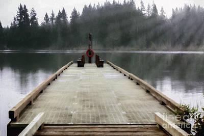 Photograph - Deep Lake Dock  by Jean OKeeffe Macro Abundance Art