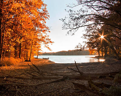 Deep River County Park Photograph - Deep Creek Lake Fall Iv by Neal Blizzard