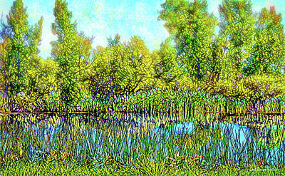 Digital Art - Deep Lake Reflections - Colorado Pond by Joel Bruce Wallach