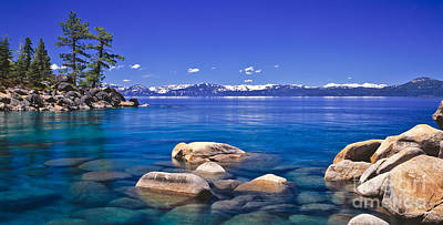 Lake Tahoe Photograph - Deep Looks Panorama by Vance Fox