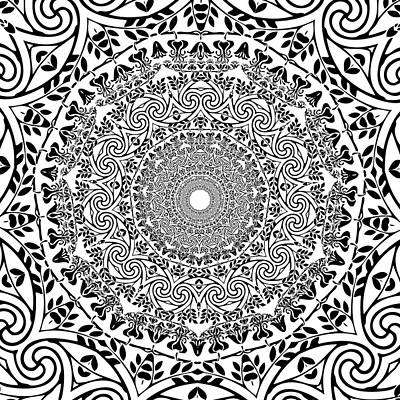 Deep Mandala  Art Print by Latex Color Design