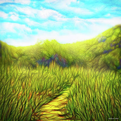 Digital Art - Deep Meadow Tranquility by Joel Bruce Wallach