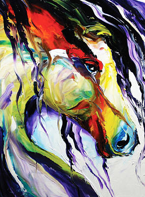 Dressage Art Painting - Deep Memories by Laurie Pace