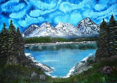 Deep Mountain Lake Art Print by Valerie Ornstein