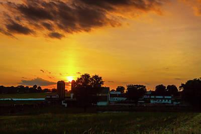 Photograph - Deep Orange Farm by Ed Cilley