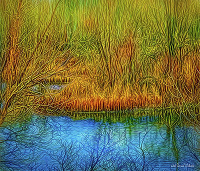Digital Art - Deep Pond Contemplations by Joel Bruce Wallach