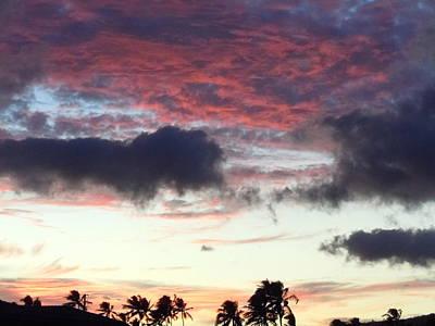 Photograph - Deep Purple Clouds Over Kauai by Karen J Shine