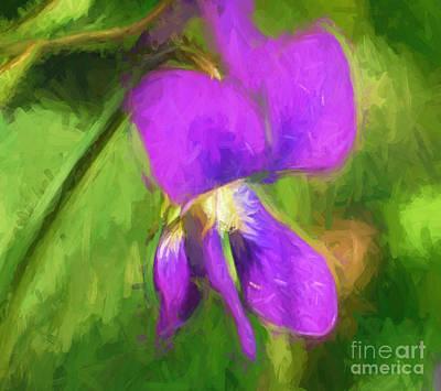 Photograph - Deep Purple - Wildflower Art by Kerri Farley