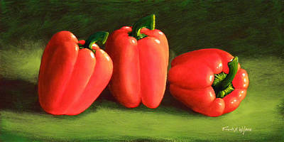 Painting - Deep Red Peppers by Frank Wilson