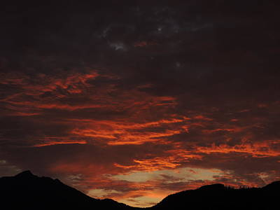 Photograph - Deep Red Sky by Nootka Sound