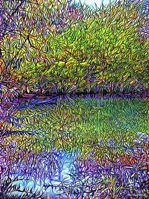 Digital Art - Deep Reflection Dreaming by Joel Bruce Wallach