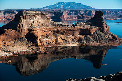 Deep Reflections In Lake Powell Art Print