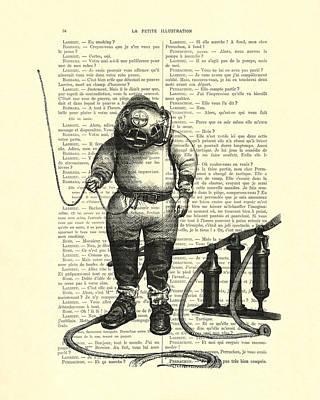 Diving Helmet Digital Art - Deep Sea Diver by Madame Memento