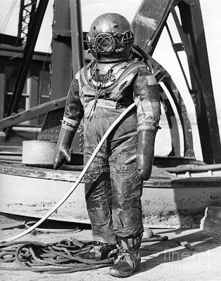 Stiff Photograph - Deep Sea Diving Suit, C.1930-40s by H. Armstrong Roberts/ClassicStock