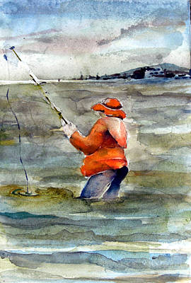 North Sea Painting - Deep Sea Fisherman by Mindy Newman
